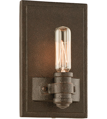 Troy Lighting Pike Place 1 Light Wall Sconce in Shipyard Bronze B3121 photo
