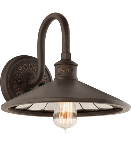 Troy Lighting B3142 Brooklyn 1 Light 12 inch Brooklyn Bronze Wall Sconce Wall Light photo