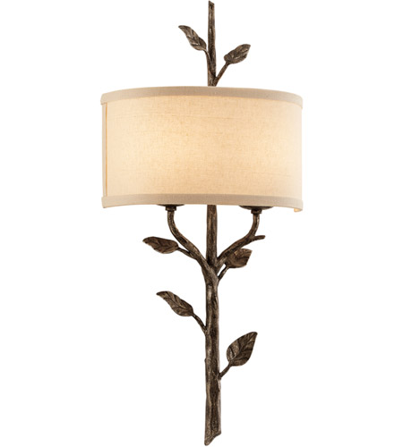 Troy Lighting B3182 Almont 2 Light 12 inch Bronze Leaf Wall Sconce Wall Light  sc 1 st  Troy Lighting - Lighting New York : 2 light wall sconces - www.canuckmediamonitor.org