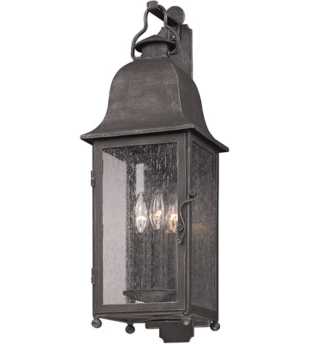 Troy Lighting B3212 Larchmont 3 Light 25 inch Aged Pewter Outdoor Wall in Incandescent photo