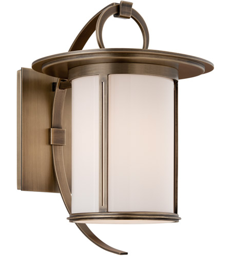 Troy Lighting Wright 1 Light Outdoor Wall in Antique Brass B3242 photo