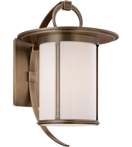 Troy Lighting Wright 1 Light Outdoor Wall in Antique Brass B3243 photo