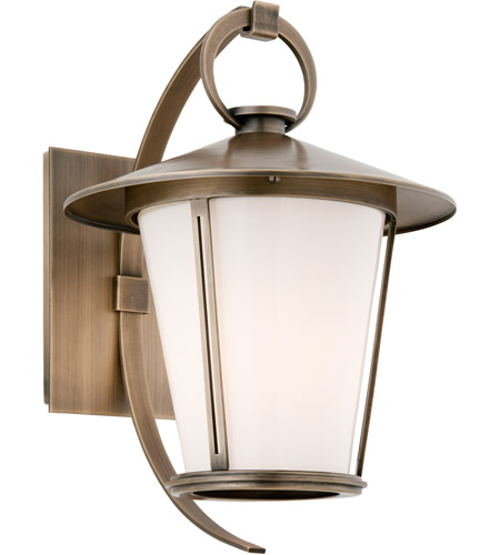 Troy Lighting Rennie 1 Light Outdoor Wall in Antique Brass B3252 photo