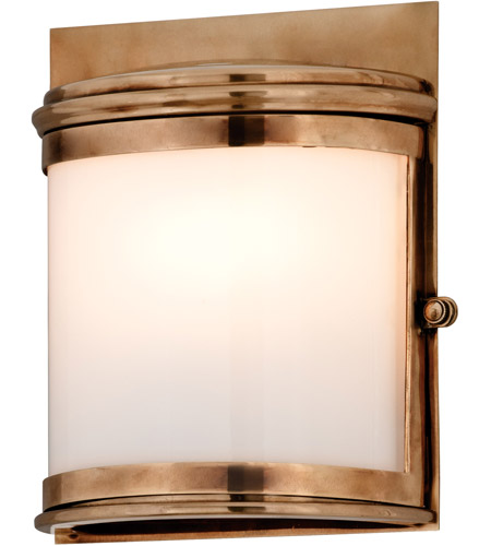 Troy Lighting Rotterdam 1 Light Outdoor Wall in Aged Brass B3321 photo