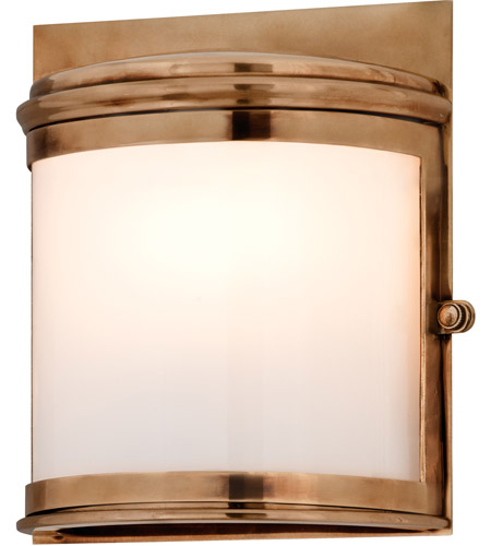 Troy Lighting Rotterdam 2 Light Outdoor Wall in Aged Brass B3322 photo