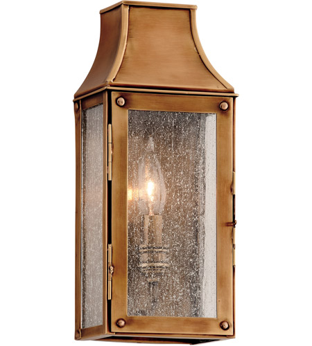 Troy Lighting Beacon Hill 1 Light Outdoor Wall in Heirloom Brass B3420 photo