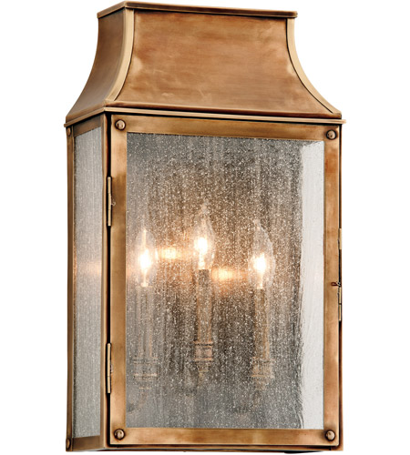 Troy Lighting B3423 Beacon Hill 3 Light 20 Inch Heirloom Br Outdoor Wall