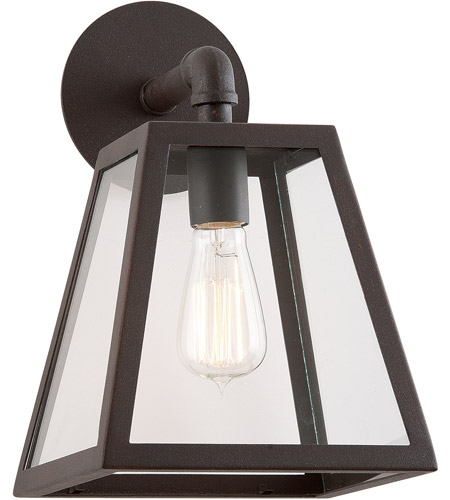 Troy Lighting B3432-C Amherst 1 Light 13 inch River Valley Rust with Coastal Finish Outdoor Wall in Clear photo