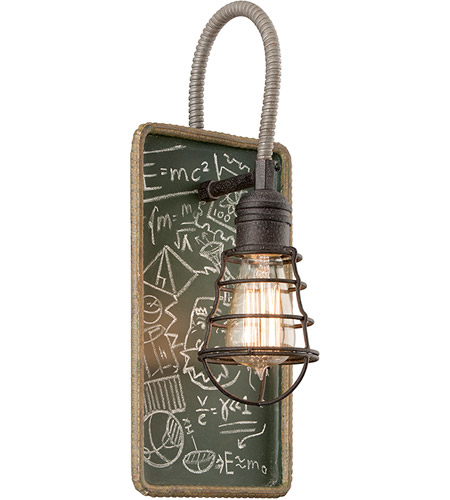 Troy Lighting B3651 Relativity 1 Light 7 inch Salvage Zinc With Chalkboard Interior Wall Sconce Wall Light photo