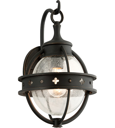 Troy Lighting B3681 Mendocino 1 Light 15 inch Forged Black Outdoor Wall Lantern photo