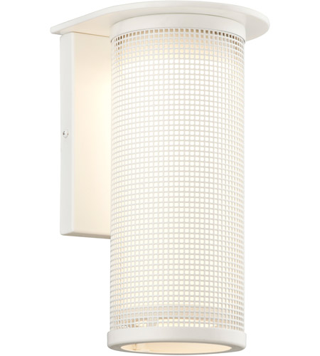 Satin White Hive Outdoor Wall Lights