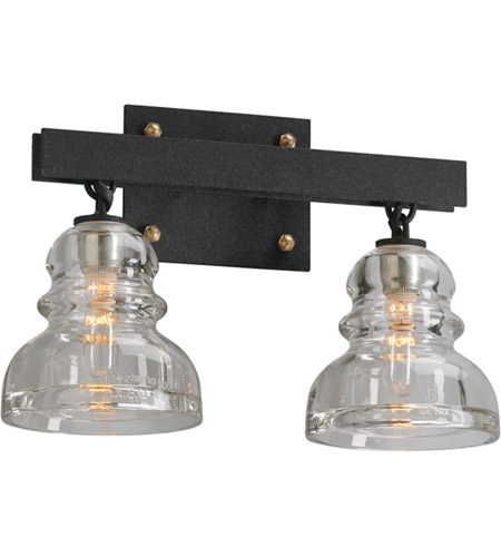 troy lighting b3962 menlo park 2 light 15 inch deep bronze bath