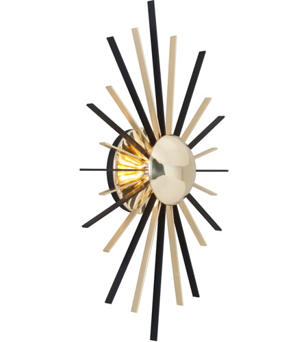 Troy Lighting B4251 Atomic LED 14 inch Polished Brass with Matte Black Wall Sconce Wall Light photo