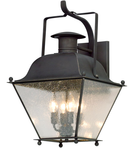 Troy Lighting B5073CI Adams 1 Light 23 inch Colonial Iron Outdoor Wall Lantern photo