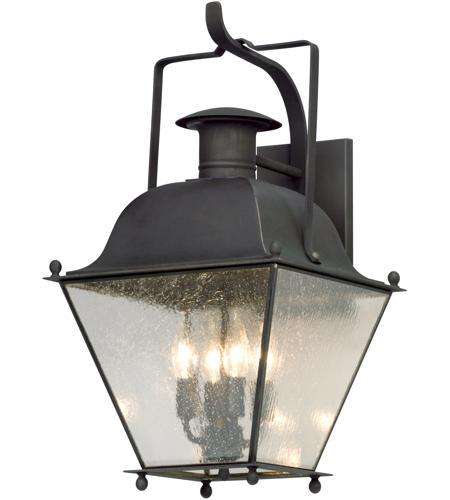 Wellesley 4 Light 24 Inch Charred Iron Outdoor Wall Lantern