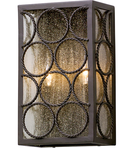 Troy Lighting B5222 Bacchus 2 Light 14 inch Textured Bronze Outdoor Wall Light photo