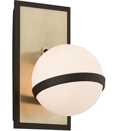 Troy Lighting B5301 Ace Textured Bronze and Brushed Brass Wall Sconce Wall Light photo