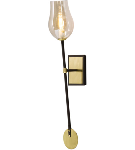 Troy Lighting B5311 Equilibrium 1 Light 5 inch Textured Bronze and Brushed Brass Wall Sconce Wall Light photo