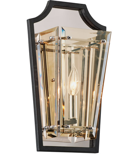 Iron and Glass Wall Sconces