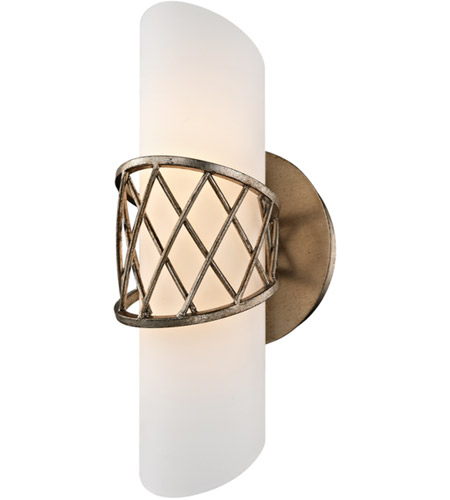 Troy Lighting B5871 Hideaway LED 5 inch Champagne Leaf Wall Sconce Wall Light, Frosted White Glass photo