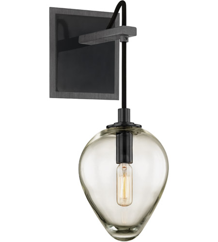Troy Lighting B6201 Brixton 1 Light 6 inch Gunmetal with Smoked Chrome Wall Sconce Wall Light photo