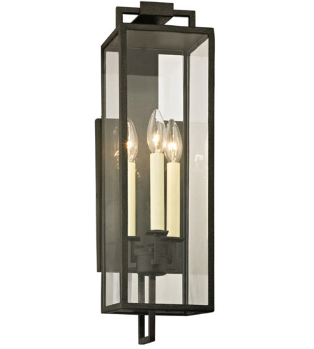Troy Lighting B6382 Beckham 3 Light 22 inch Forged Iron Outdoor Wall Sconce  photo