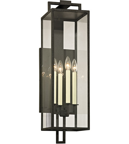 Troy Lighting B6383 Beckham 4 Light 29 Inch Forged Iron Outdoor Wall Sconce