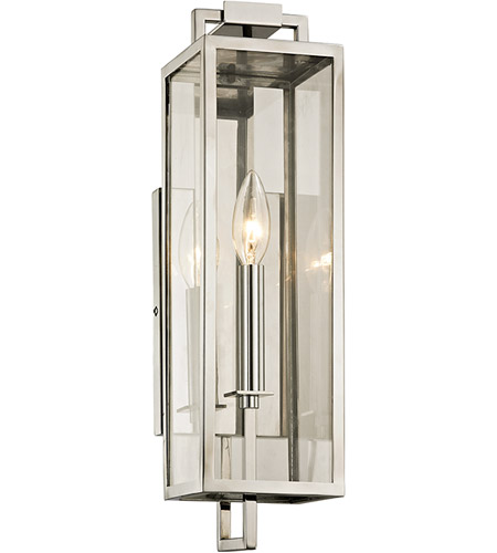 Troy Lighting B6531 Beckham 1 Light 17 Inch Polished Stainless Outdoor Wall Sconce