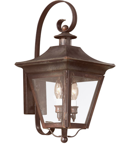 Troy Lighting B8930NR Oxford 2 Light 20 inch Natural Rust Outdoor Wall Lantern in Clear photo
