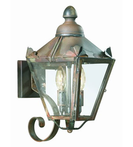 Troy Lighting B8940CI Preston 2 Light 16 inch Charred Iron Outdoor Wall Lantern in Clear photo