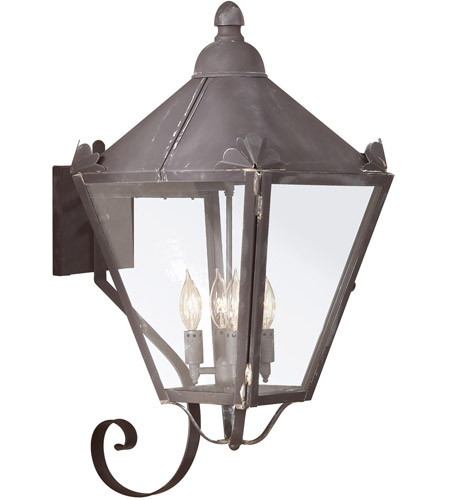 Troy Lighting Preston 4 Light Outdoor Wall Lantern in Charred Iron B8946CI photo