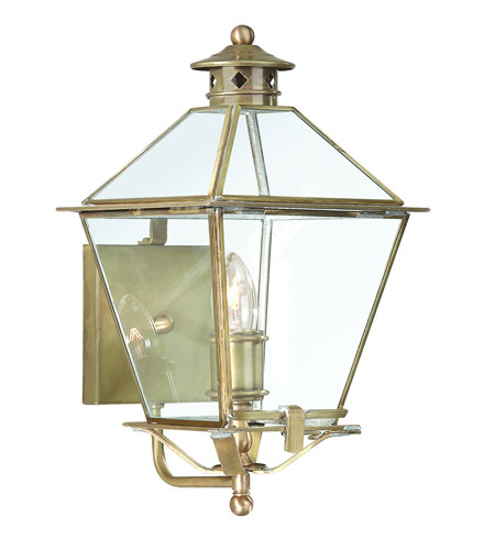 Troy Lighting B8951NAB Montgomery 1 Light 16 inch Natural Aged Brass Outdoor Wall Lantern in Clear photo
