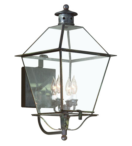 Troy Lighting Montgomery 4 Light Outdoor Wall Lantern in Charred Iron B8957CI photo