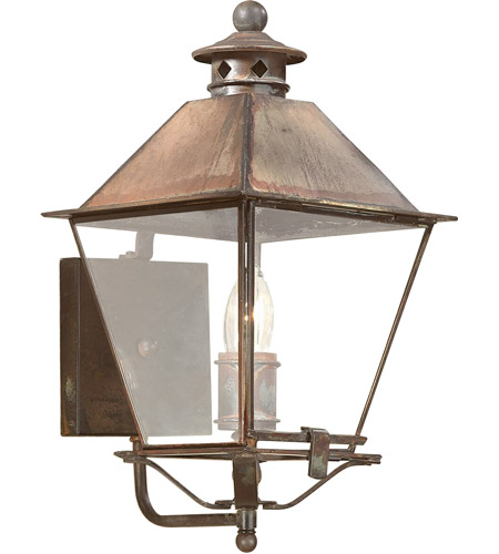 Troy Lighting B9131NR Montgomery 1 Light 16 inch Natural Rust Outdoor Wall Lantern in Clear photo