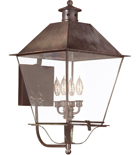 Troy Lighting Montgomery 4 Light Outdoor Wall Lantern in Natural Rust B9140NR photo