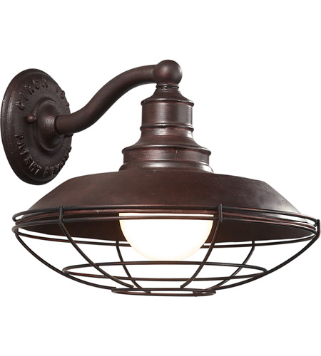 Troy Lighting Circa 1910 1 Light Outdoor Wall Downlight in Old Rust B9271OR photo