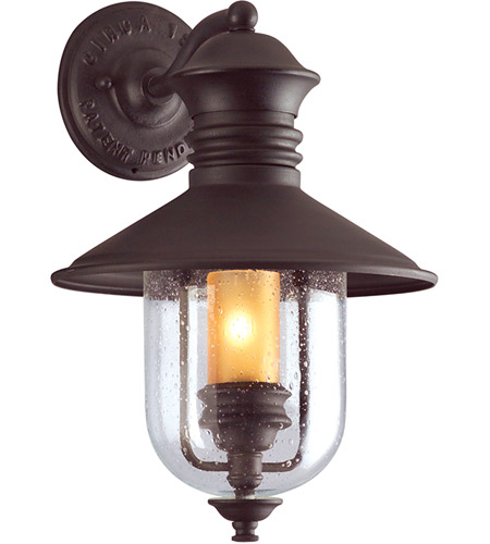 Troy Lighting B9360NB Old Town 1 Light 16 inch Natural Bronze Outdoor Wall Lantern  photo