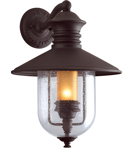 Troy Lighting B9361NB Old Town 1 Light 19 inch Natural Bronze Outdoor Wall Lantern photo