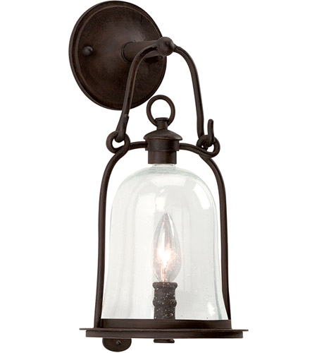 Troy Lighting B9461NB Owings Mill 1 Light 16 inch Natural Bronze Outdoor Wall Lantern photo