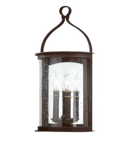 Troy Lighting Scarsdale 2 Light Outdoor Wall Pocket Lantern in Forged Black B9472FBK photo