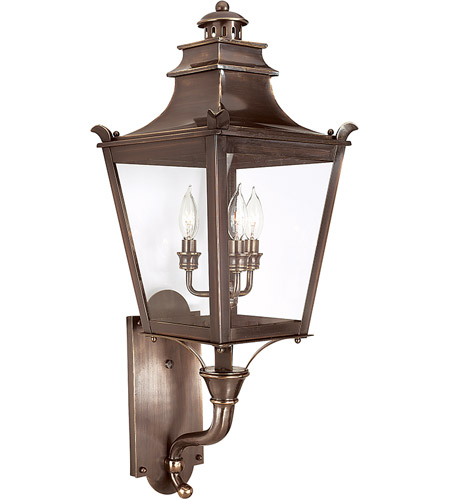 Troy Lighting B9493EB Dorchester 3 Light 31 inch English Bronze Outdoor Wall Lantern photo