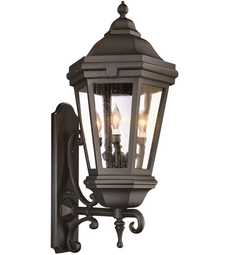 Troy Lighting BCD6834MB Verona 3 Light 35 inch Matte Black Outdoor Wall Lantern in Incandescent photo