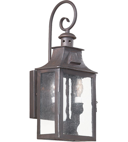 Troy Lighting BCD9001OBZ Newton 2 Light 18 inch Old Bronze Outdoor Wall Lantern in Incandescent photo