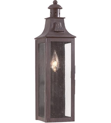 Troy Lighting BCD9007OBZ Newton 1 Light 18 inch Old Bronze Outdoor Wall Pocket Lantern in Incandescent photo