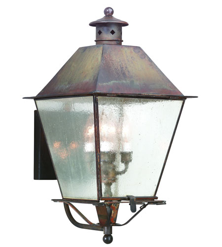 Troy Lighting BCD9137NR Montgomery 4 Light 24 inch Natural Rust Outdoor Wall Lantern in Clear Seeded photo