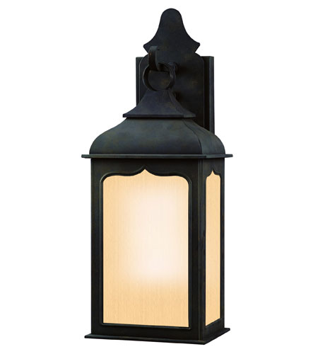 Troy Lighting Henry Street 1 Light Outdoor Pocket Lantern Fluorescent in Colonial Iron BF2010CI photo