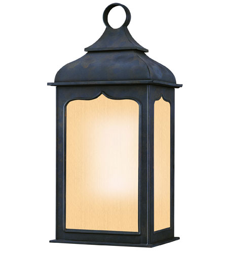 Troy Lighting BF2011CI Henry Street 1 Light 19 inch Colonial Iron Outdoor Wall Lantern Fluorescent photo