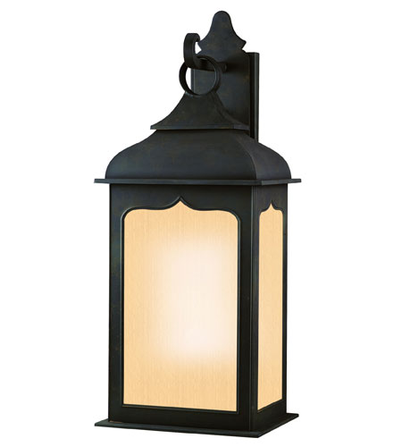 Troy Lighting Henry Street 1 Light Outdoor Wall Lantern Fluorescent in Colonial Iron BF2013CI photo