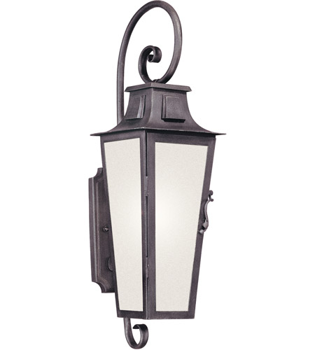 Troy Lighting BF2962 Parisian Square 1 Light 24 inch Aged Pewter Outdoor Wall Lantern in Fluorescent photo