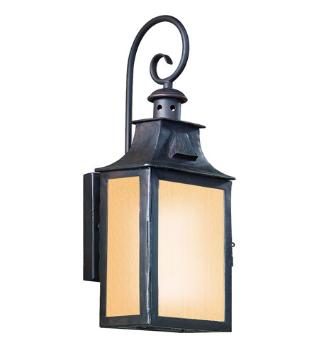 Troy Lighting BF9001OBZ Newton 1 Light Old Bronze Outdoor Wall Lantern Fluorescent photo